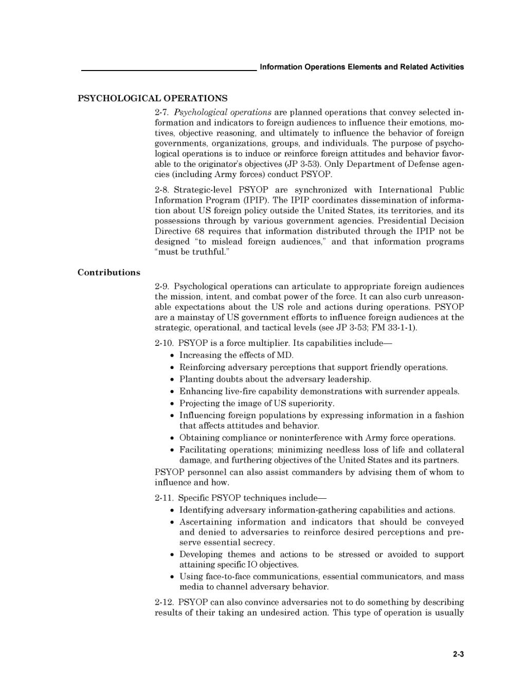 page united states army field manual 3 13 information operations rh en wikisource org Army Field Manual 3 24 U.S. Army Field Manual 21 20