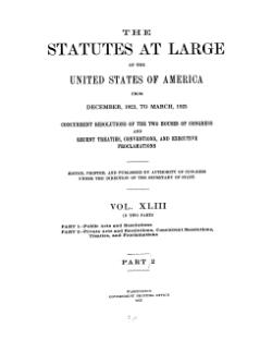 United States Statutes at Large Volume 43 Part 2.djvu