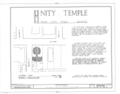 Unity Temple, 875 Lake Street, Oak Park, Cook County, IL HABS ILL,16-OAKPA,3- (sheet 1 of 7).png