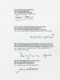 Treaty on the Final Settlement with Respect to Germany 1990 treaty returning full sovereignty to Germany