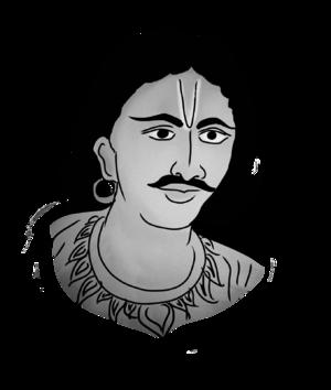 Upendra Bhanja - Modern painting of 'Kabi Samrat' Upendra Bhanja