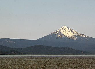 Mount McLoughlin - Mount McLoughlin from the Upper Klamath Lake, showing its summit cone