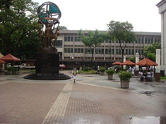 University of Santo Tomas Junior High School - View from the Quadricentennial Park