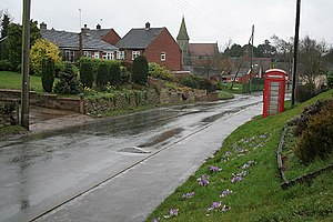 Kingstone, Staffordshire - Image: Uttoxeter Road, Kingstone geograph.org.uk 354386