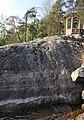 Väinölänniemeä Rönönsalmen äärellä - Valapaton viiva 1899 ja Matkailijayhdistyksen paviljonkia 1889 -Kuopio.jpg
