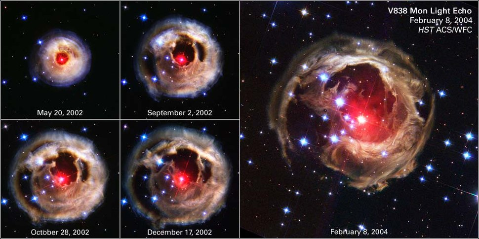 V838 Monocerotis expansion