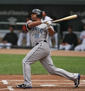 Vernon Wells - Wells batting for the Toronto Blue Jays in 2009