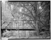 VIEW, LOOKING NORTHWEST, SHOWING EAST ELEVATION OF PRATT APPROACH SPAN - Little Missouri River Bridge, Spanning Little Missouri River at CR 179, Okolona, Clark County, AR HAER ARK,10-OLRO.V,1-6.tif