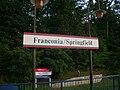VRE station sign at Franconia-Springfield station, July 2012.jpg