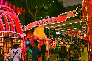 Valentine's Day decorations, Orchard Road, Singapore - 20140214