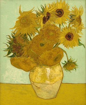 Vincent van Gogh, Vase with 12 sunflowers, 188...