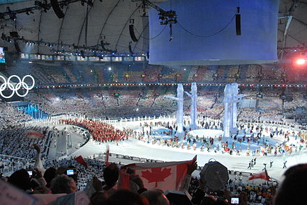 BC Place during the opening ceremony of the 2010 Winter Olympics Vancouver 2010 opening ceremony.jpg