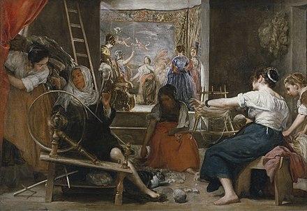Las hilanderas, cuadro de Velázquez, 1644-1648.
