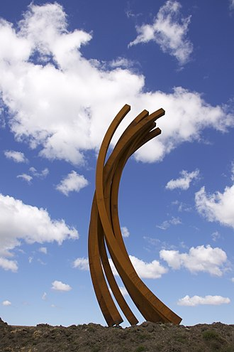 Bernar Venet - 88.5 Arc x 8, 2012, Gibbs Farm, Kaipara Harbour, New Zealand