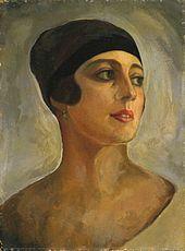 Strawinskys zweite Ehefrau Vera de Bosset, Porträt von Sergei Sudeikin (Quelle: Wikimedia)