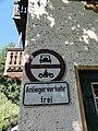 Verkehrsverbotsschild, Kochel am See, Bayern, StVO 1965.jpg