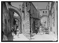 Via Dolorosa (left); Arch of Ecce Homo, Via Dolorosa (right) LOC matpc.14336.jpg