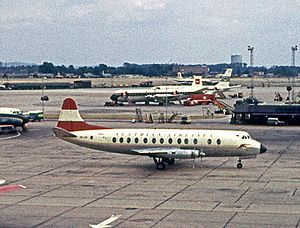 Austrian Airlines - Austrian Vickers Viscount 837 at London Heathrow in 1962