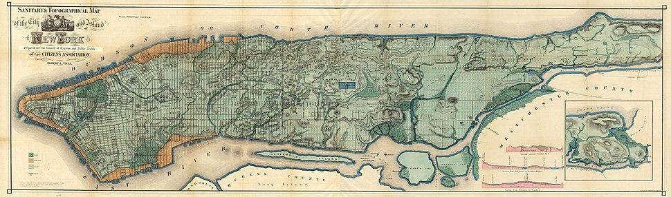 Viele Map 1865