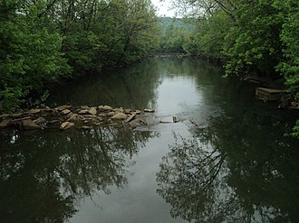 Henry County, Virginia - View of the Smith River from bridge at Fieldale, Henry County