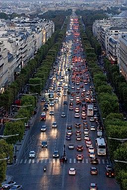 View from top Arc de Triomphe, Paris September 2013 002