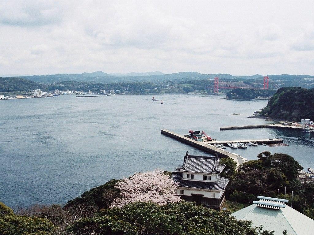 View of Hirado Strait from Hirado castle Nagasaki,JAPAN