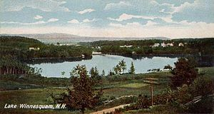 Winnisquam Lake - Image: View of Lake Winnisquam, NH