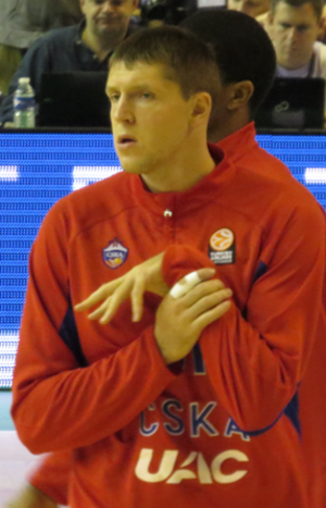 Victor Khryapa - Khryapa with CSKA Moscow in October 2013.