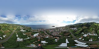 Vila Franca do Campo - Image: Vila Franca do Campo – spherical panorama