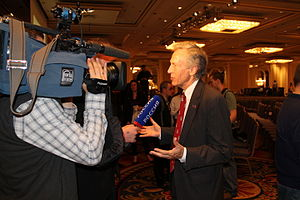 Virgil Goode presidential campaign, 2012 - Goode speaks to the media.