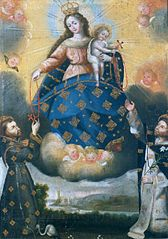 The Virgin of the Rosary with Saints Dominic and Francis