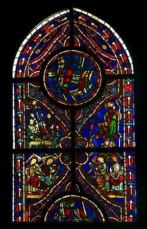 Vitrail Varennes Jarcy 1220-1230, Musée de Cluny