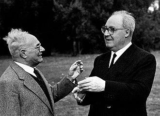 Vittorio G. Rossi - Vittorio Giovanni Rossi (left) with President Giuseppe Saragat in 1965