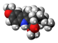 Voacangine molecule spacefill.png