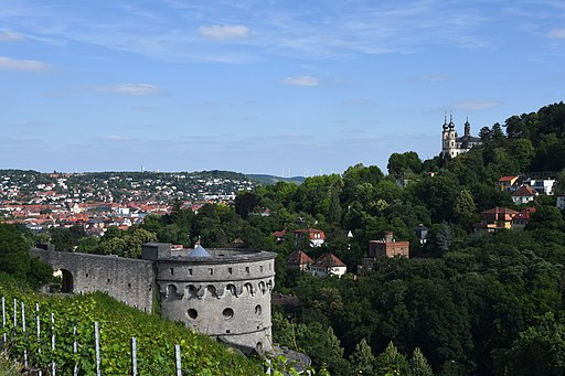 Würzburg, Festung Marienberg, Maschikuliturm (18. Jhdt.) (29215720698)