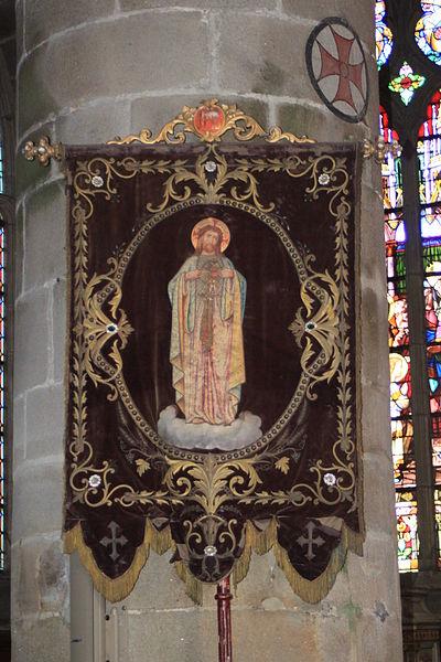 Bannière du Sacré-Cœur, église Notre-Dame-de-Pitié, Fr-44-le Croisic.