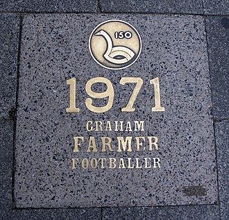 Graham Farmer - St Georges Terrace, Perth bronze tablet