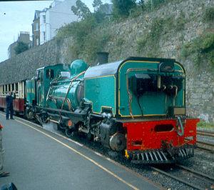 Caernarfon railway station - Image: WHR Garratt at Segontium