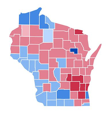 United States Presidential Election In Wisconsin Wikipedia - Us presidential map 2004