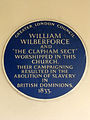 WILLIAM WILBERFORCE AND THE CLAPHAM SECT WORSHIPPED IN THIS CHURCH. THEIR CAMPAIGNING RESULTED IN THE ABOLITION OF SLAVERY IN BRITISH DOMINIONS 1833.jpg