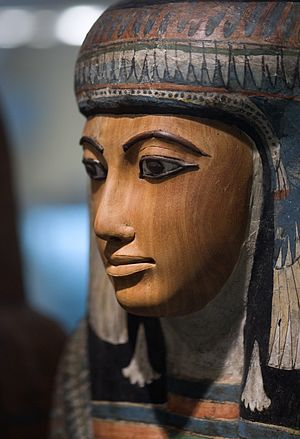 Rijksmuseum van Oudheden - Ancient Egyptian sarcophagus at RMO