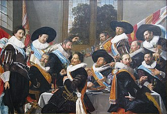 The Banquet of the Officers of the St Adrian Militia Company in 1627 - The Banquet of the Officers of the St Adrian Militia Company in 1627