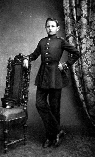 Paul von Hindenburg - Paul von Hindenburg as a cadet in Wahlstatt (1860)