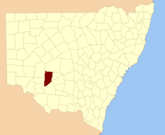 Waljeers County - Location in New South Wales