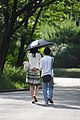 Walking couple under one Summer Parasol.jpg