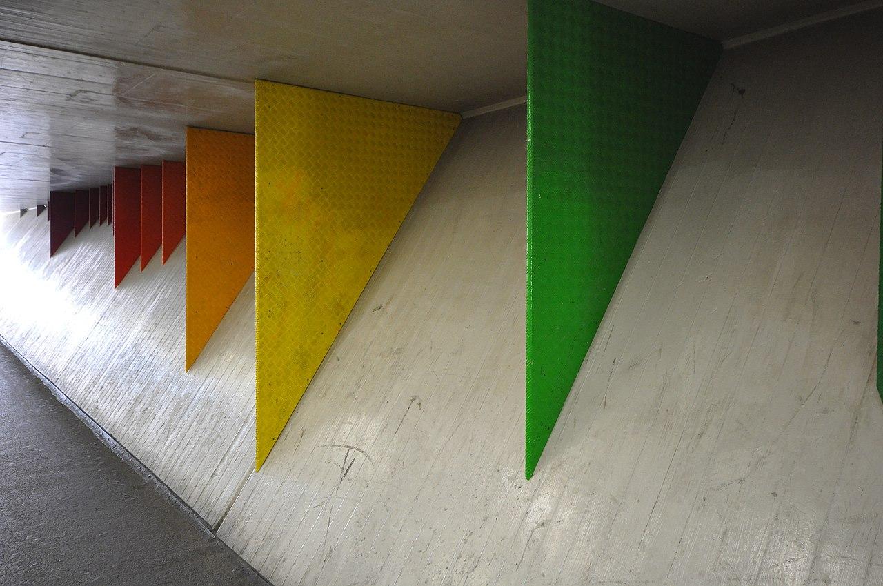 File:Wandgestaltung Langstrassenunterführung, 1986, Jürg Grau   2014 09 23    Bild 4.JPG