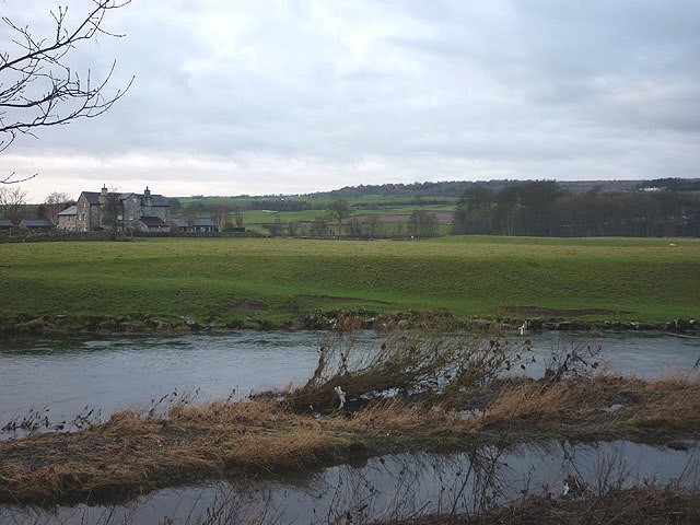 Watercrook Farm and the River Kent