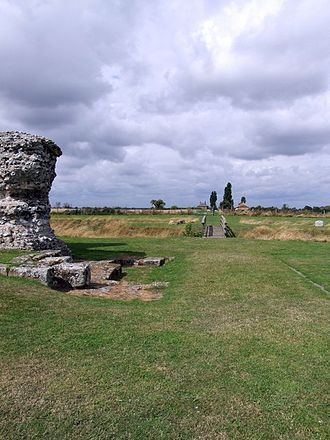 Watling Street - The road at Richborough Castle, one of the Romans' Kentish ports