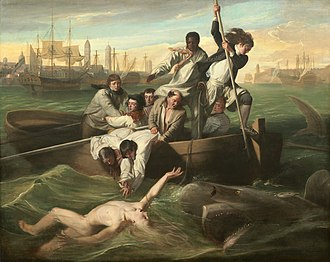 Visual art of the United States - John Singleton Copley, Watson and the Shark, (original version), 1778