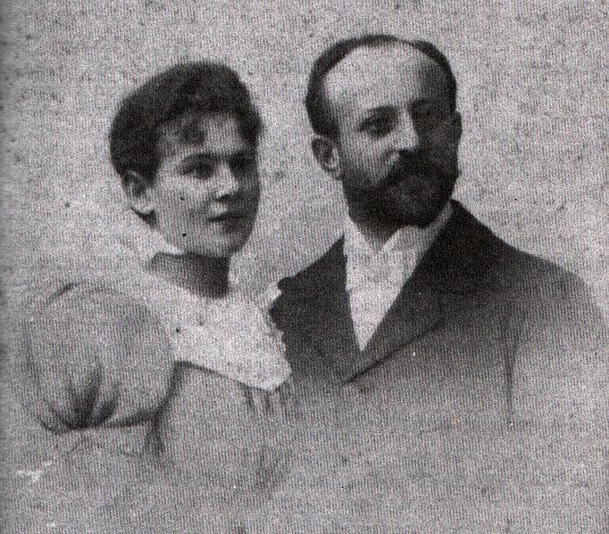 File:Wedding photo of Auguste and Bernhard Mayer 1897.jpg